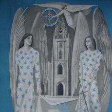 Arte: OVIEDO.ESCENA ALUSIVA A LA GUERRA CIVIL DE JOSE LUIS LOPEZ SANCHEZ.1940.18.5X24. Lote 39800912