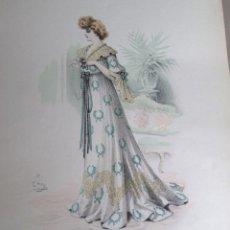 Arte: LAMINA: L`ART ET LA MODEBRODERIES DE LA MAISON COIQUIL ET GAY PARIS 1900 Nº 49. Lote 39806412