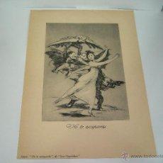 Arte: GOYA NO TE ESCAPARAS DE LOS CAPRICHOS. Lote 39987647