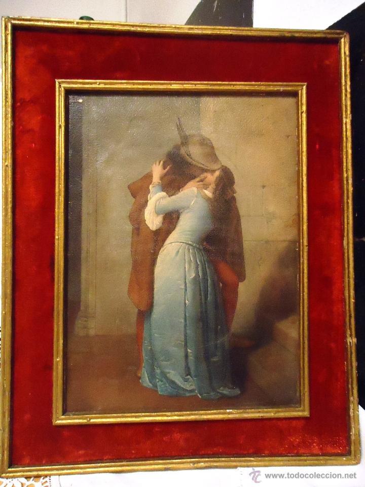 Antiguo cuadro de romeo y julieta 30x38 - Vendido en Venta