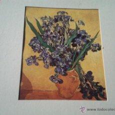 Arte: JARRÓN CON LIRIOS AUTOR: VINCENT VAN GOGH . Lote 40338887