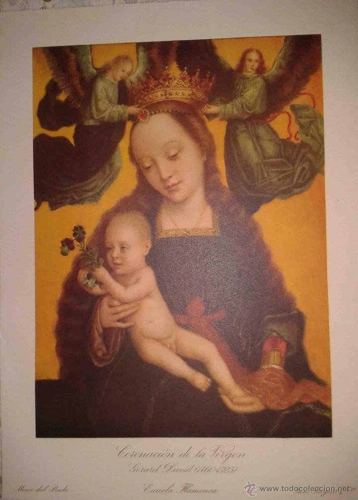 LOTE DE 12 LÁMINAS ANTIGUAS DEL MUSEO DEL PRADO,JUAN BARGUÑO Y CIA (33X24) (Arte - Láminas Antiguas)