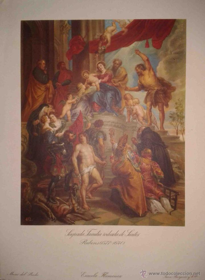 Arte: LOTE DE 12 LÁMINAS ANTIGUAS DEL MUSEO DEL PRADO,JUAN BARGUÑO Y CIA (33X24) - Foto 6 - 40606106