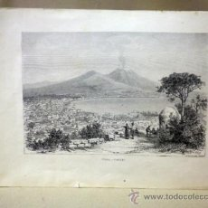 Arte: LAMINA, LAMINA ANTIGUA, ITALIA, NAPOLES, 22 X 32 CM. Lote 41158133