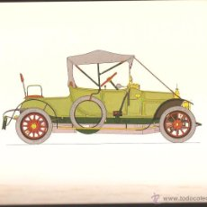 Arte: LÁMINA HISTORIA AUTOMOVIL * VERMOREL 12 /16 -1912 * - LABORATORIOS AMOR AÑO 1966. Lote 41230200