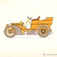 Arte: LÁMINA HISTORIA AUTOMOVIL * MERCEDES BENZ 1903 * - LABORATORIOS AMOR AÑO 1966. Lote 41230279