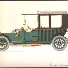 Arte: LÁMINA HISTORIA AUTOMOVIL * DELAUNAY BELLEVILLE 1912 * - LABORATORIOS AMOR AÑO 1966. Lote 41230296