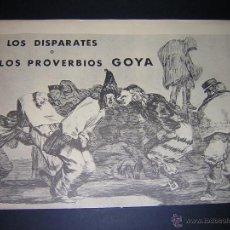 Arte: 1980 - GOYA - LOS DISPARATES O LOS PROVERBIOS - 22 LAMINAS COMPLETA. Lote 41263152
