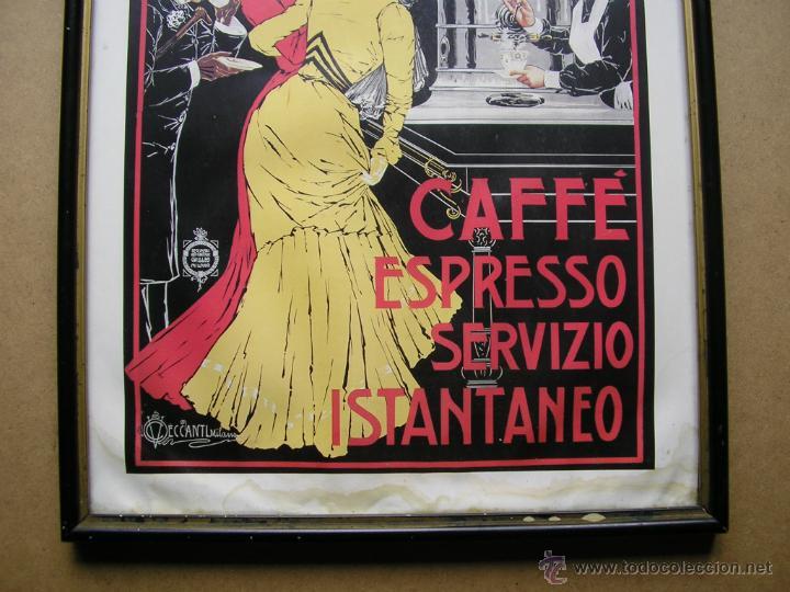Arte: CAFFÉ ESPRESSO SERVIZIO ISTANTANEO,LÁMINA ENMARCADA CON CRISTAL - Foto 3 - 41586862