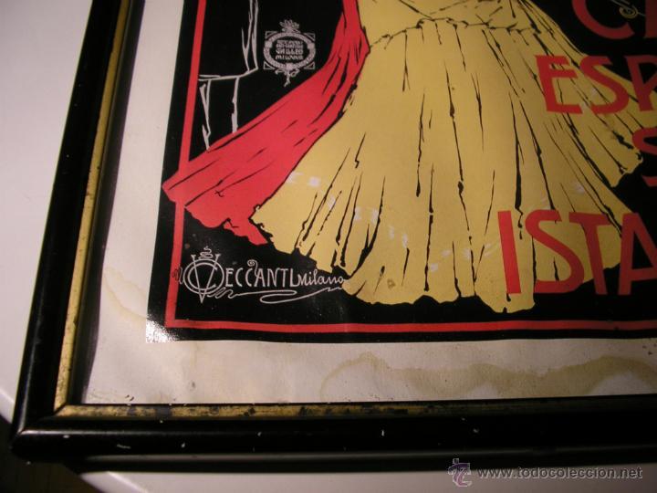 Arte: CAFFÉ ESPRESSO SERVIZIO ISTANTANEO,LÁMINA ENMARCADA CON CRISTAL - Foto 4 - 41586862