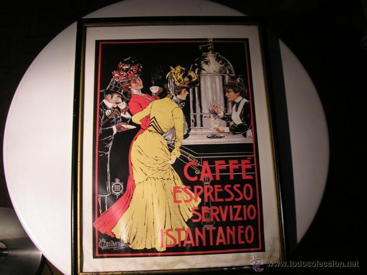 Arte: CAFFÉ ESPRESSO SERVIZIO ISTANTANEO,LÁMINA ENMARCADA CON CRISTAL - Foto 5 - 41586862