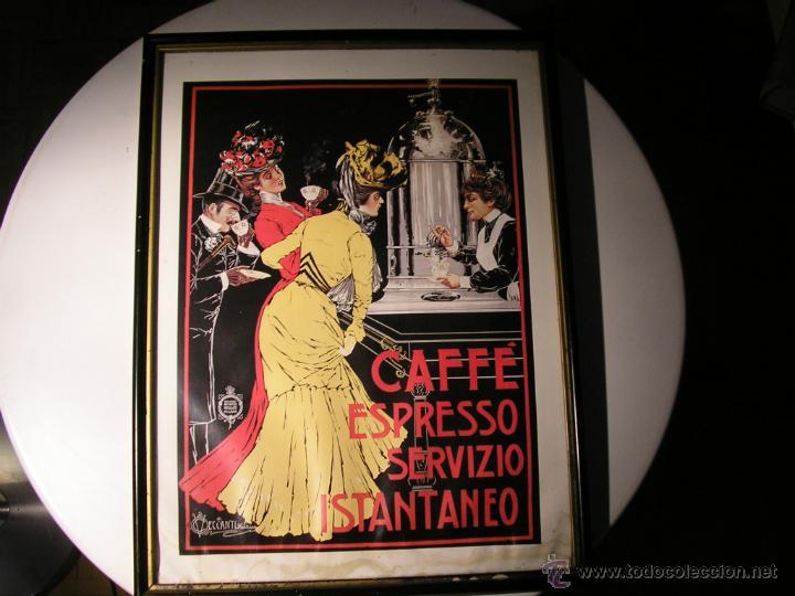 Arte: CAFFÉ ESPRESSO SERVIZIO ISTANTANEO,LÁMINA ENMARCADA CON CRISTAL - Foto 6 - 41586862