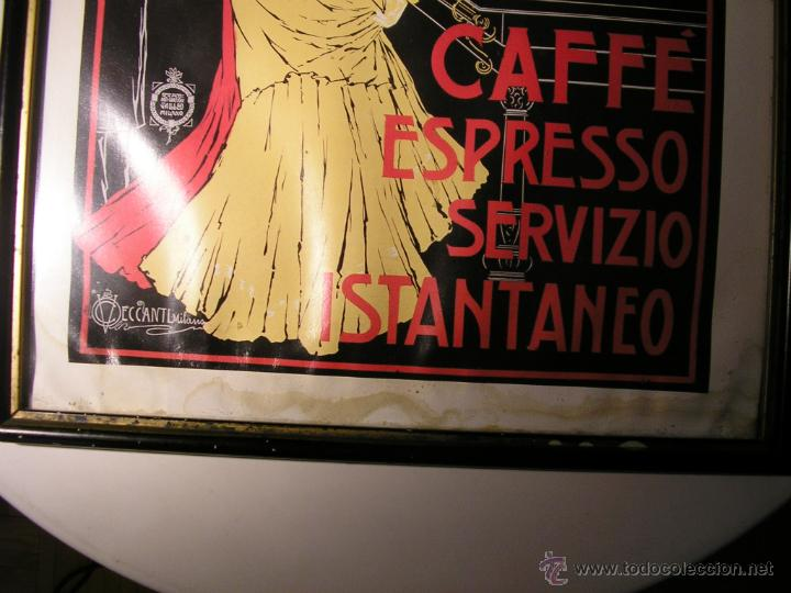 Arte: CAFFÉ ESPRESSO SERVIZIO ISTANTANEO,LÁMINA ENMARCADA CON CRISTAL - Foto 7 - 41586862