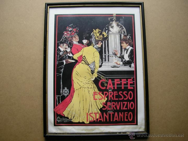 Arte: CAFFÉ ESPRESSO SERVIZIO ISTANTANEO,LÁMINA ENMARCADA CON CRISTAL - Foto 16 - 41586862