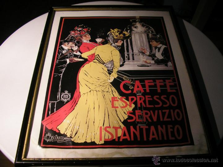 Arte: CAFFÉ ESPRESSO SERVIZIO ISTANTANEO,LÁMINA ENMARCADA CON CRISTAL - Foto 19 - 41586862