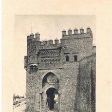 Arte: LAMINA- TOLEDO. LA PUERTA DEL SOL. 26X18 CM. 1900 FOTOTIPIA HAUSER Y MENET. Lote 41589783