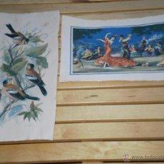 Arte: LOTE DE 2 LAMINAS . FOLKLORE ESPAÑOL ( EDICIONES ANGEL ALEMAN ) Y PAJAROS , FIRMADA Y NUMERADA . VER. Lote 41625035