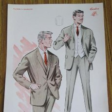 Arte: LAMINA DE MODA HOMBRE - INVIERNO 1963 . Lote 42015463