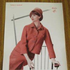Arte: LAMINA DE MODA MUJER - INVIERNO 1963 . Lote 42015570