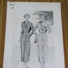 Arte: LAMINA DE MODA MUJER - PRIMAVERA - VERANO 1950. Lote 42015747