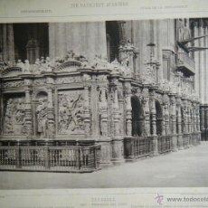 Arte: ZARAGOZA. SEO - RESPALDO DEL CORO. 1570. DIE BAUKUNST SPANIENS.JUNGHÄNDEL,MAX.. Lote 42414443