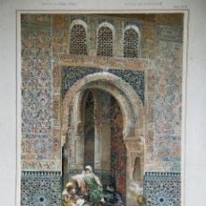 Arte: G.SIMONI PINX. ALHAMBRA TORRE DE LA CAUTIVA. DIE BAUKUNST SPANIENS. M.JUNGHÄNDEL.. Lote 42436129