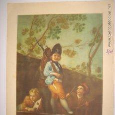 Arte: LÁMINA REPRODUCCIÓN MUCHACHOS JUGANDO A LOS SOLDADOS. GOYA. BARSAL. MIDE: 23,9 X 32,5 CMS. . Lote 42624758