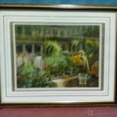 Arte: F. AGIRRE PLAZA NUEVA LAMINA ENMARCADA CON CRISTAL. Lote 42688171