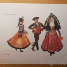 Arte: LAMINA DE 56 X 42 CMS CANDELARIO (SALAMANCA) ARTISTA L. ARMSTRONG, EL PAPEL ES DE ACUARELA. Lote 42717812