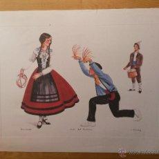 Arte: LAMINA DE 56 X 42 CMS SANTANDER BAILE DEL ROMANCE, ARTISTA L. ARMSTRONG, EL PAPEL ES DE ACUARELA. Lote 42717887