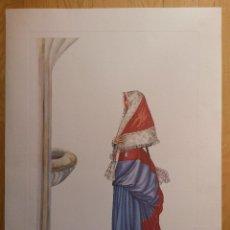 Arte: LAMINA DE 56 X 42 CMS RONCAL NAVARRA, ARTISTA L. ARMSTRONG, EL PAPEL ES DE ACUARELA. Lote 42717955