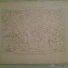 Arte: BELLA LÁMINA - FRAGMENTO PINTURAS MURALES ... SALA DE LAS BATALLAS DE EL ESCORIAL - 34X47 CM.. Lote 42988022