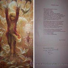 Arte: DIBUJO Y POEMA DE FERRÀNDIZ, CON DEDICATORIA DEL AUTOR. Lote 23576779