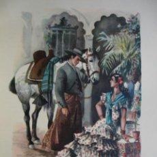 Arte: SEVILLA.TRAJES ESPAÑOLES.ALFREDO IBARRA.1950.19X26.5. Lote 43002771