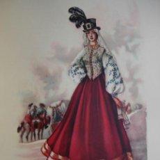 Arte: PUEBLA DE GUZMAN HUELVA TRAJES ESPAÑOLES.ALFREDO IBARRA.1950.19X26.5. Lote 43002799