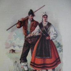 Arte: ASTURIAS TRAJES ESPAÑOLES.ALFREDO IBARRA.1950.19X26.5. Lote 43003182