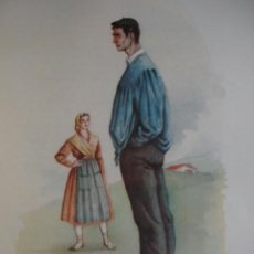 Arte: PROVINCIAS VASCONGADAS .PAIS VASCO TRAJES ESPAÑOLES.ALFREDO IBARRA.1950.19X26.5. Lote 43003262