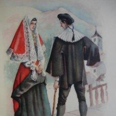 Arte: RONCAL NAVARRA TRAJES ESPAÑOLES.ALFREDO IBARRA.1950.19X26.5. Lote 43003275