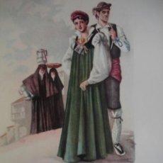 Arte: ANSO ALTO ARAGON TRAJES ESPAÑOLES.ALFREDO IBARRA.1950.19X26.5. Lote 43003313