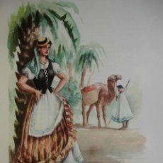 Arte: ISLAS CANARIAS TRAJES ESPAÑOLES.ALFREDO IBARRA.1950.19X26.5. Lote 43003354