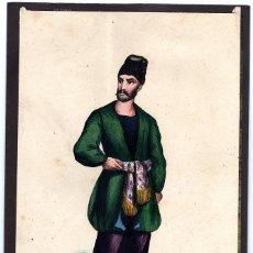 Arte: ANTIGUA LÁMINA RAZAS HUMANAS, HOMBRE NATURAL DE ARMENIA, MERCADER ARMENIANO, MEDIDAS 22 X 14 CMS. Lote 233044450