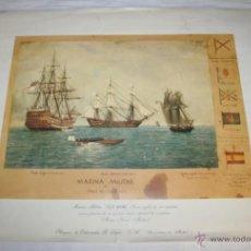 Arte: LAMINA DE EDITORIALES R. LAFER - MARINA MILITAR FINES SIGLO XVIII - MUSEO NAVAL MADRID. Lote 43142023