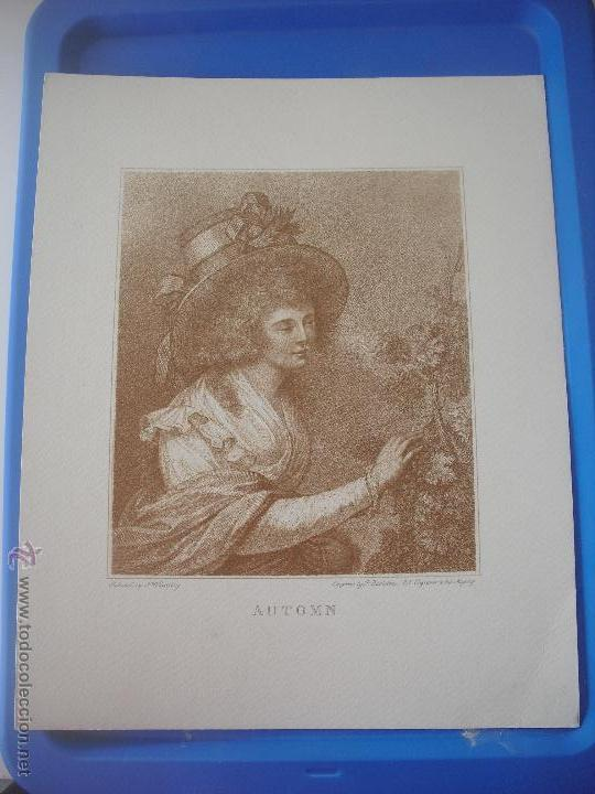 LAMINA AUTOMN. F. WHEATLEY. 30 X 24 CM (Arte - Láminas Antiguas)