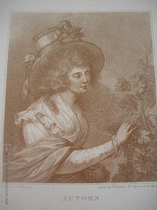 Arte: Lamina Automn. F. Wheatley. 30 x 24 cm - Foto 2 - 43221126