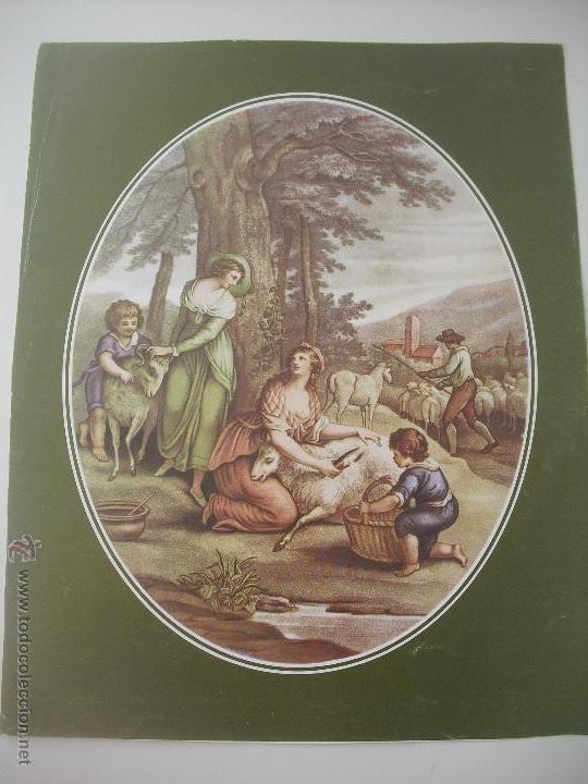 LAMINA ESCENA PASTORIL. 30 X 24 CM (Arte - Láminas Antiguas)