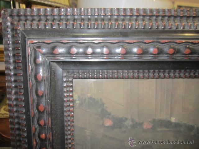 Arte: Gran lámina antigua - La santa cena - con bonito marco. Medida papel: 86 x 54 cms. Marco: 105 x 73,5 - Foto 2 - 43369794