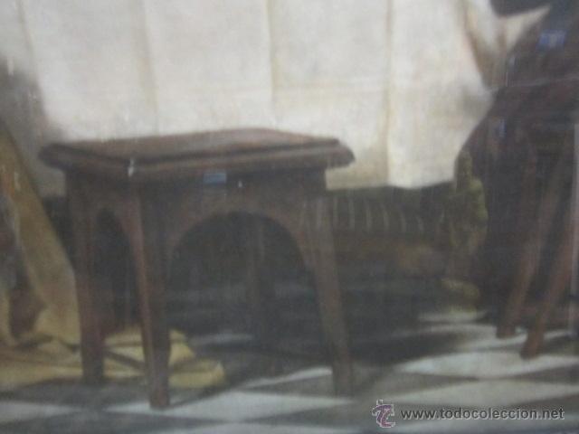 Arte: Gran lámina antigua - La santa cena - con bonito marco. Medida papel: 86 x 54 cms. Marco: 105 x 73,5 - Foto 5 - 43369794