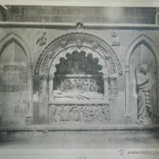 Arte: LEÓN. SEPULCRO EN EL CRUCERO DE LA CATEDRAL 1190. DIE BAUKUNST SPANIENS. M.JUNGHÄNDEL.. Lote 43494735