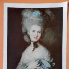 Arte: LÁMINA EN COLOR CON TÍTULOS EN RUSO - THOMAS GAINSBOROUGH (1727-1788). Lote 43581455