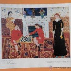Arte: LÁMINA EN COLOR CON TÍTULOS EN RUSO. 1911 - HENRI MATISSE (1869-1954). Lote 43581484